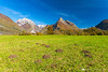 Mt. Svinjak near Bovec on a sunny fall day