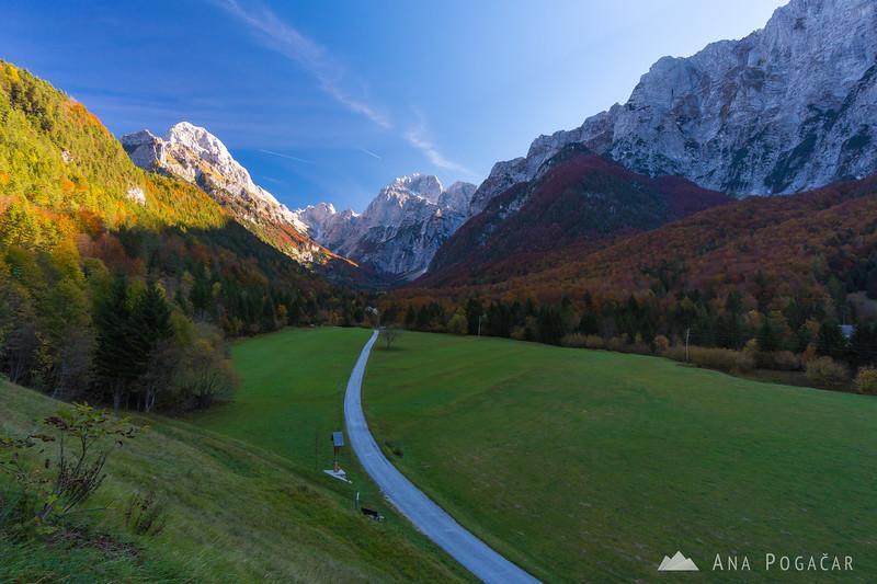 Alpine valley near Log pod Mangartom