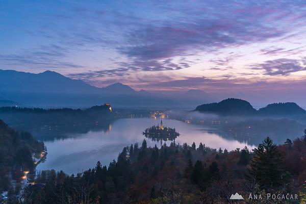 Lake Bled at dawn