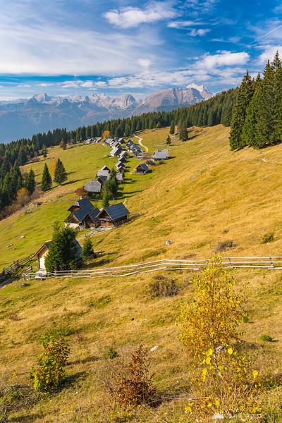 Sunny Zajamniki, the highest village in Slovenia