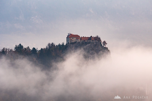 Bled Castle on an early fall morning