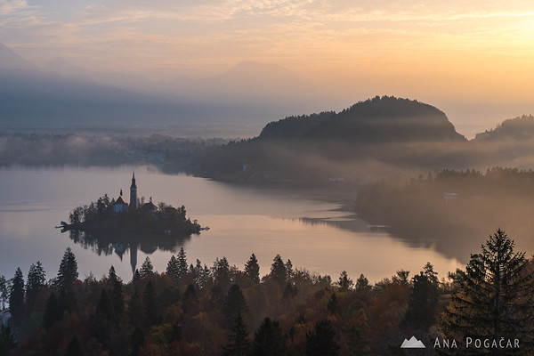 Lake Bled on an early fall morning