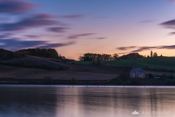 Lake Pernica before the sunrise