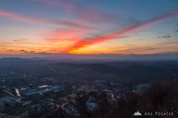 Sunset skies above Kamnik