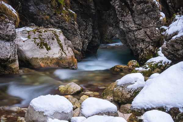 Predaselj gorge on a winter day