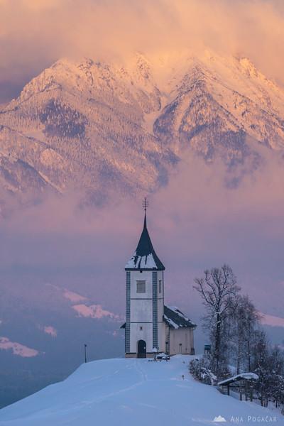 Winter sunset in Jamnik