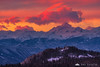 Colorful sunset above the Julian Alps and Mt. Triglav
