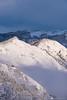 Kamniški vrh and Velika planina from the slopes of Mt. Krvavec