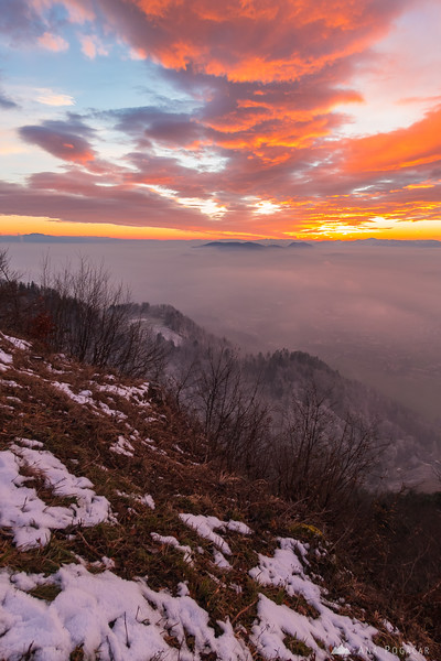 Colorful sunset skies from Špica