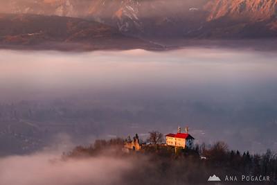 Stari grad from Špica at sunset