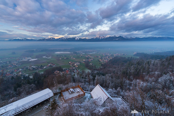 Views from the Smlednik Castle