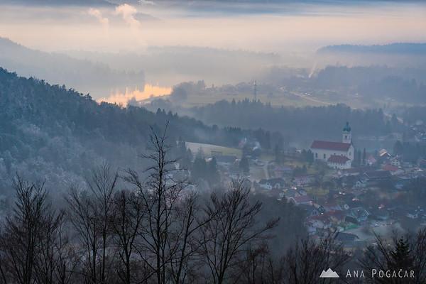 Smlednik and Zbilje Lake from the Smlednik Castle
