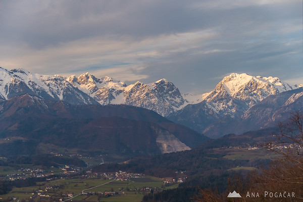 The Kamnik Alps before sunset