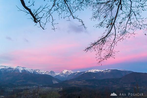 Sunset colors from Stari grad