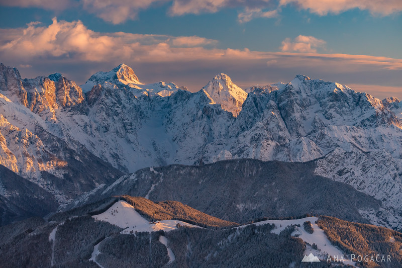 The Julian Alps as seen from Mt. Dobratsch
