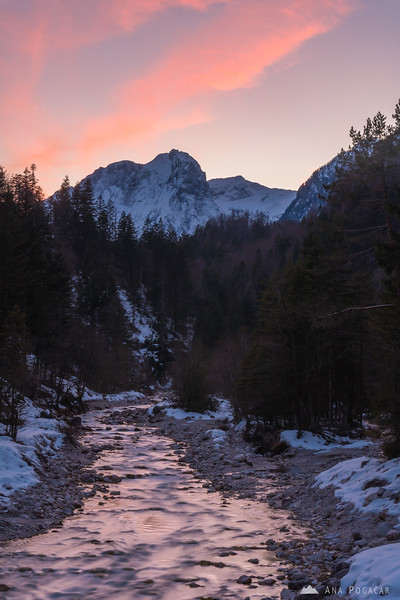Sunset in the Vrata valley