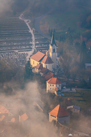 Žale (Kamnik cemetary) as seen from Špica