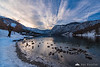 Sunset at Lake Bohinj