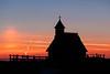 Chapel on Velika planina before sunrise