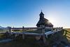 The chapel on Velika planina on a sunny spring morning