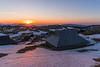 Sunrise on crocus-clad and partly snowy Velika planina