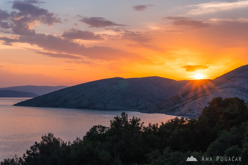 Sunset in Stara Baška