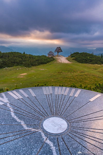 At the very top of Velika planina, Gradišče, at 1666 meters above sea level