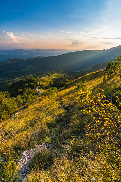 Climbing Mt. Kamniški vrh on a warm September afternoon