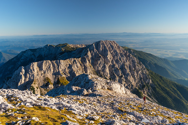 Kalška gora and Kalški greben from Mt. Grintovec