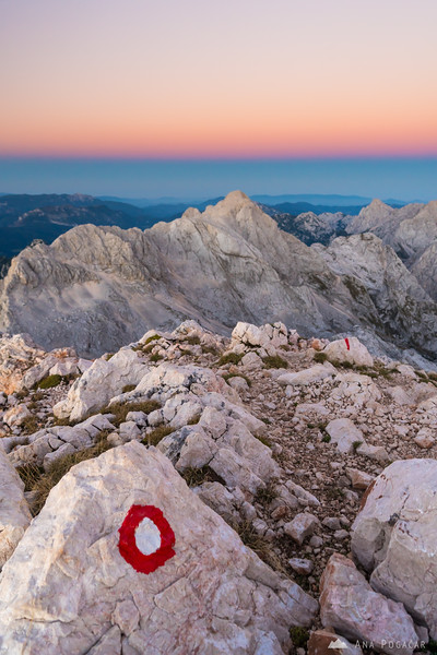 At the top of Mt. Grintovec after sunset