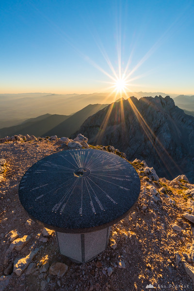 At the top of Mt. Grintovec before sunset