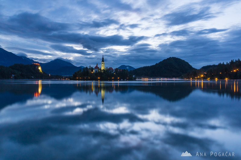 Bled before sunrise
