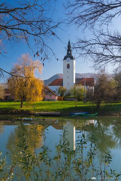Kostanjevica na Krki on a sunny fall day