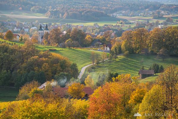 Kostanjevica in fall colors