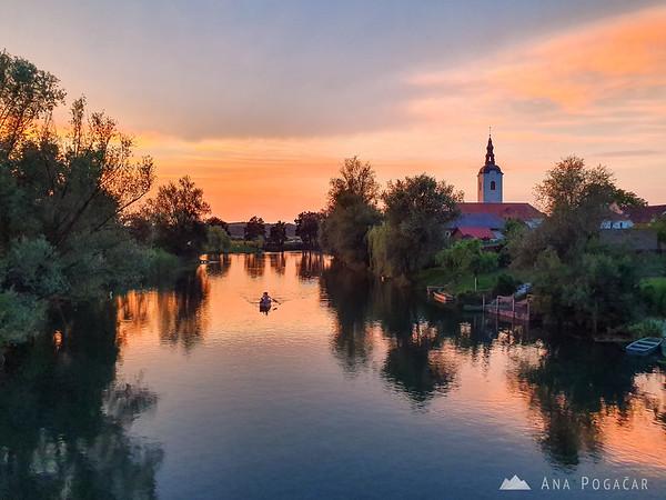 Intense sunset in Kostanjevica