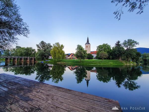 A quiet summer evening on Krka river