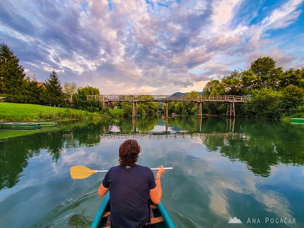 Rowing on Krka river