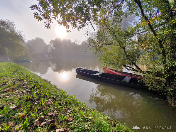 Misty morning on Krka river
