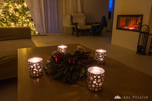Christmas decorations in our home