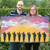 Jerimiah and Shannon Woods - Fort Hood Owl Creek Memorial Painting