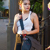 Model Celene Trinidad at Trey Ratcliff's Photowalk in San Antonio, TX in August 2015. Celene is modeling Trey's new camera bag the Everyday Messenger, which he is creating with Peak Design.