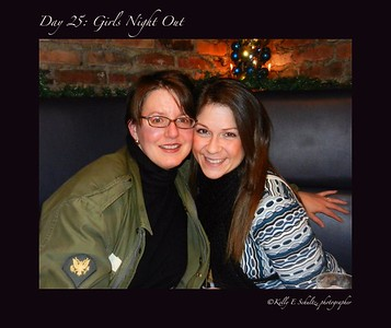Day 25 ~ After I shot Mac McAnally at the Bear's Den in Niagara Falls, my husband and I met my girlfriend and her husband at a local restaurant.  It's always nice to see good friends!
