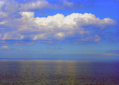 Blue Clouds over Lake Ontario