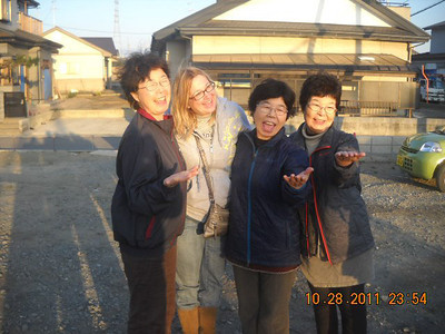 "03-14-2013: Photo Credit - Vern Shishido. Thanks Laura for submitting! ""During SBCC's Japan Tsunami Relief Trip in 2011, Vern met these three sisters who were having their homes worked on. One of them lost her husband, daughter and grandchild during the tsunami. Such loss yet still all of them were able to smile! Only God can bring that kind of peace."""
