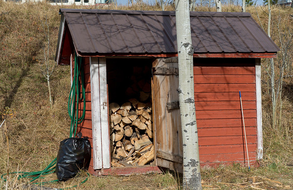 Wood Shed - Every kids nightmare.