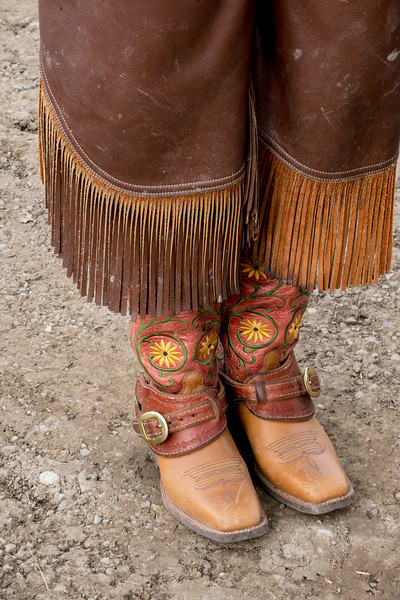 A saddle is being made to match these exquisite boots.