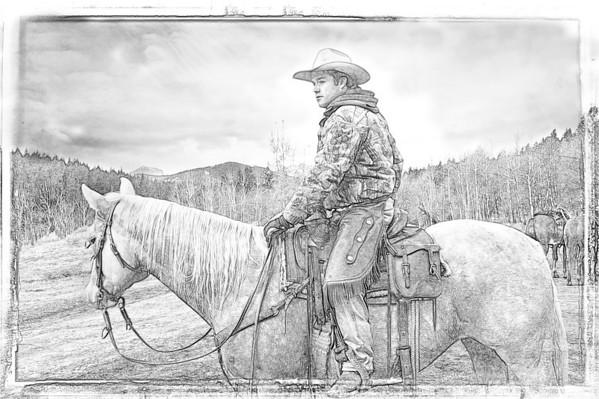 Horse & Rider - Drawing #2