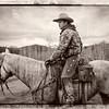 Horse & Rider - Black & White, Old format