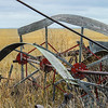 Reels were used on combines and swathers to help feed the grain into the cutting blades.