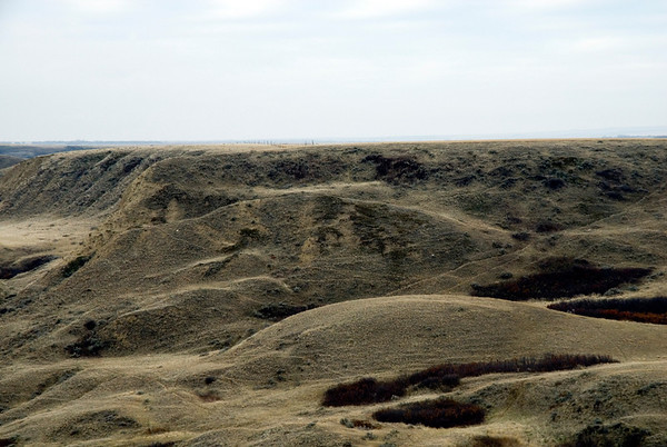 Beautiful, rugged landscapes consist of the many large coulees along the lakes.